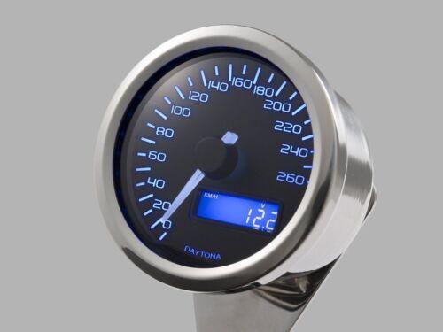 Tachimetro analogico elettronico VELONA 260 KMH con staffa CAFE RACER DAYTONA