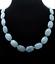 "22/"" Pretty natural aquamarine Flat Oval Gemstone Beads Necklace 13x18mm"