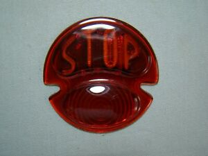 1928 1929 1930 1931 Ford Model A Car /'STOP/' Tail Light Lamp Lens with BLUE DOT