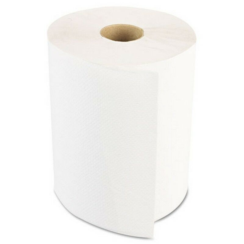 Boardwalk BWK6250 Hardwound Paper Towels Nonperforated 1-ply White 350ft 12