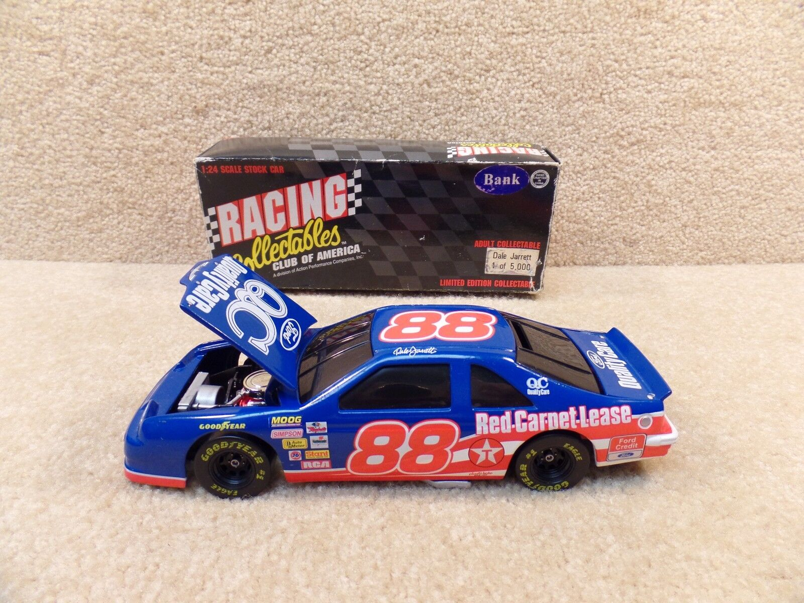 New 1996 Action Platinum 1 24 Diecast NASCAR NASCAR NASCAR Jarrett Quality Care BW Bank bf0b55