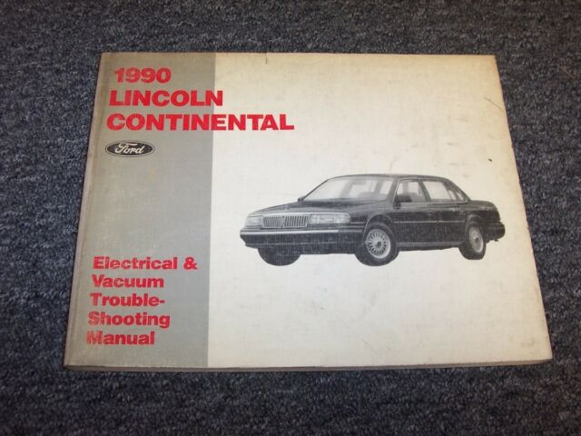 1990 Lincoln Continental Sedan Electrical Wiring  U0026 Vacuum