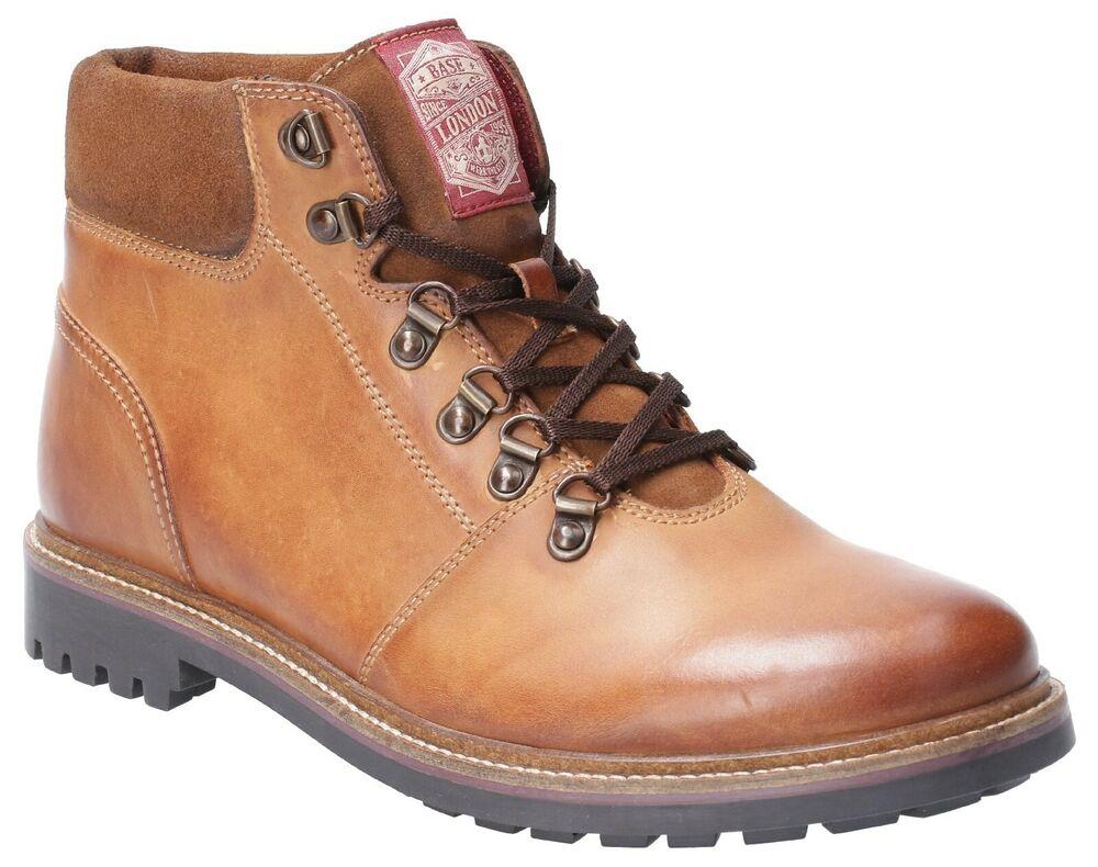 Base London Hommes Marron Bruni Chaussures à Lacets