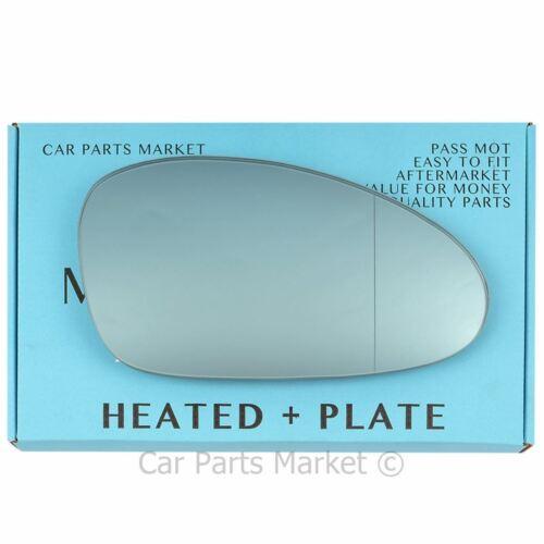 Droit Bleu Grand Angle Aile Miroir De Verre Pour Porsche 911 08-11 Chauffé Plaque