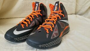 huge selection of 23cd4 37ce5 Image is loading Nike-Lebron-X-BHM-Black-History-Month-583109-