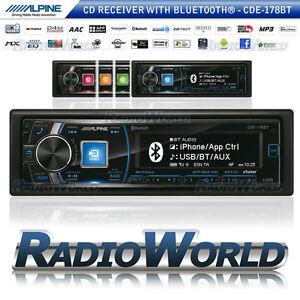 alpine cde 178bt car stereo headunit radio bluetooth cd fm. Black Bedroom Furniture Sets. Home Design Ideas