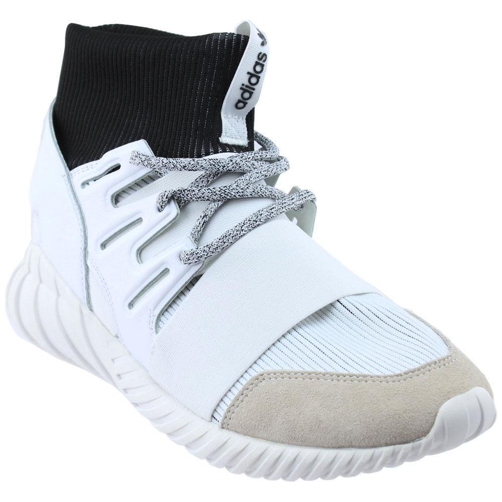 NEW adidas Originals Tubular Doom Yin Yang White suede Mens shoe BA7554 SZ 11
