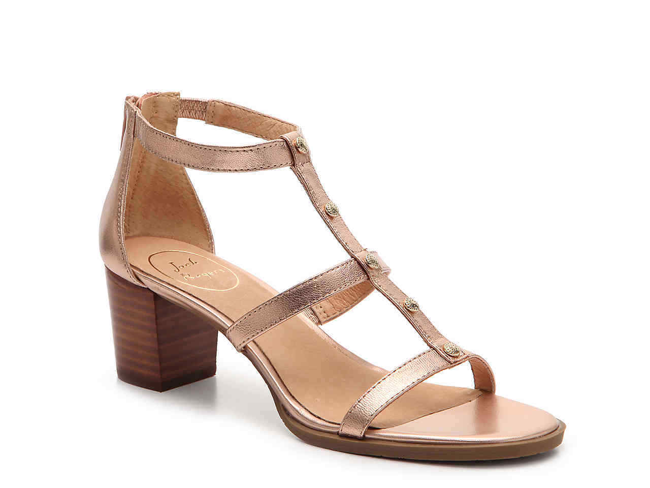 Jack Rogers Dress Gladiator Sandals Julia Block Heel Rose Gold
