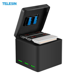 TELESIN-2-in-1-Battery-Charging-Case-Hub-Quick-3-Port-for-DJI-OSMO-Action-Camera