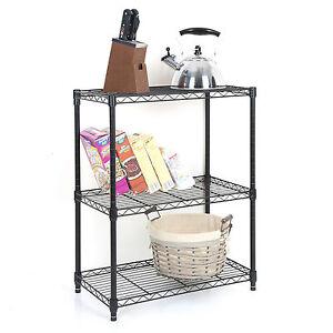 Tidy Living - 3 Tier Wire Shelf Heavy Duty Adjustable Organization Rack 23x13x30