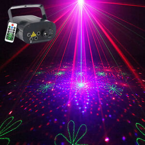 Details About Dj Party Mini 80 Rgb Laser Gobo Blue Led Stage Light Gig Show Projector Lighting