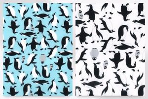 Penguins Print Cotton Poplin Fabric CP0378-M