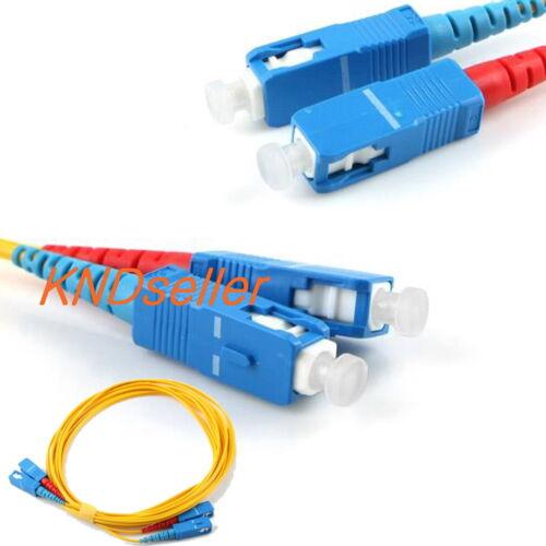 15M 45FT SC-SC Fiber Optic Cable Single mode 9//125 µm M//M Patch Cord Jumper