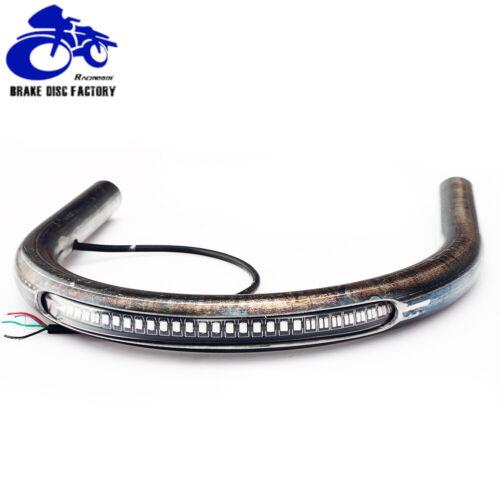 """7//8/"""" Rear Seat Frame Hoop Brat Style Seat Loop LED Brake Turn Tail Light CB GS"""