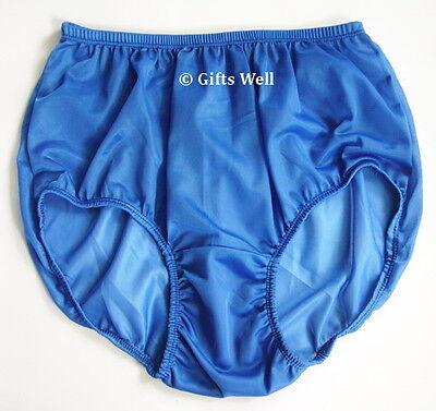 "Full Briefs Sheer Nylon Panties Pinup Underweare Waist 24-39"" Hip 38-43""  XL"