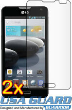 2x Clear LCD Screen Protector Cover Guard Shield Film LG Optimus F6 D600 MS500