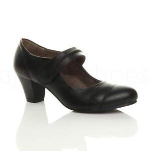 Femmes talon moyen travail babies escarpins chaussures confort cuir ... 9a4524924b6c