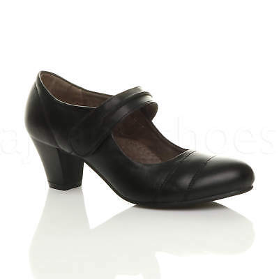 Femmes Talon Moyen Confort Babies Escarpins Chaussures Cuir