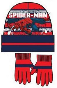 Sciarpa Marvel Ragazzi Spiderman Woolly Hat Guanti 3 pezzi Set Inverno Bambini Avengers Regalo