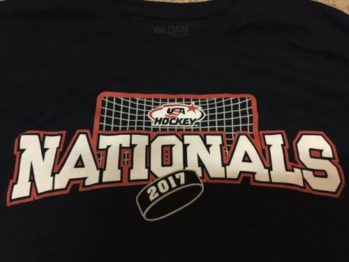 2017 USA HOCKEY Nationals Blue T-Shirt Size XL BRAND NEW