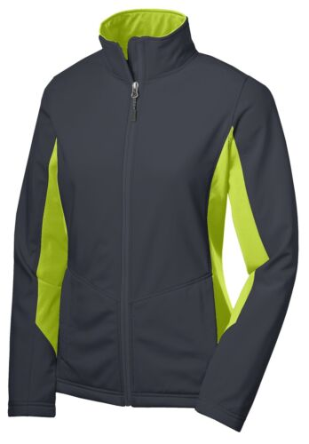 SOFT SHELL WATER RESISTANT XS-4XL JACKET ZIP UP LADIES MICROFLEECE LINED