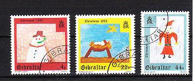 Gibraltar SchöN V1762 Gibraltar/ Weihnachten Minr 560/62 O Eine VollstäNdige Palette Von Spezifikationen