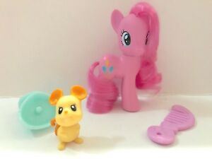 LIKE-NEW-MY-LITTLE-PONY-G4-PINKIE-PIE-BRUSHABLE-FIGURE-MOUSE-PET-MLP-FIM