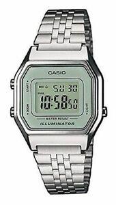 Casio-Uhr-LA680WEA-7EF-Damen-Armbanduhr-Digitaluhr-Silber-farben-Uhr-Watch-Neu