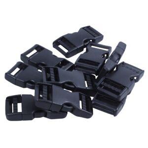 Boucle-de-sac-a-dos-en-plastique-dur-fermeture-rapide-10-pieces-noir-Q7I1