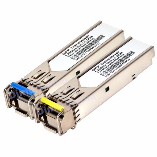 "WDM 1G DDM /""LC/"" BX-D//BX-U 3 km transceivers 3km SFP BiDi for Cisco"