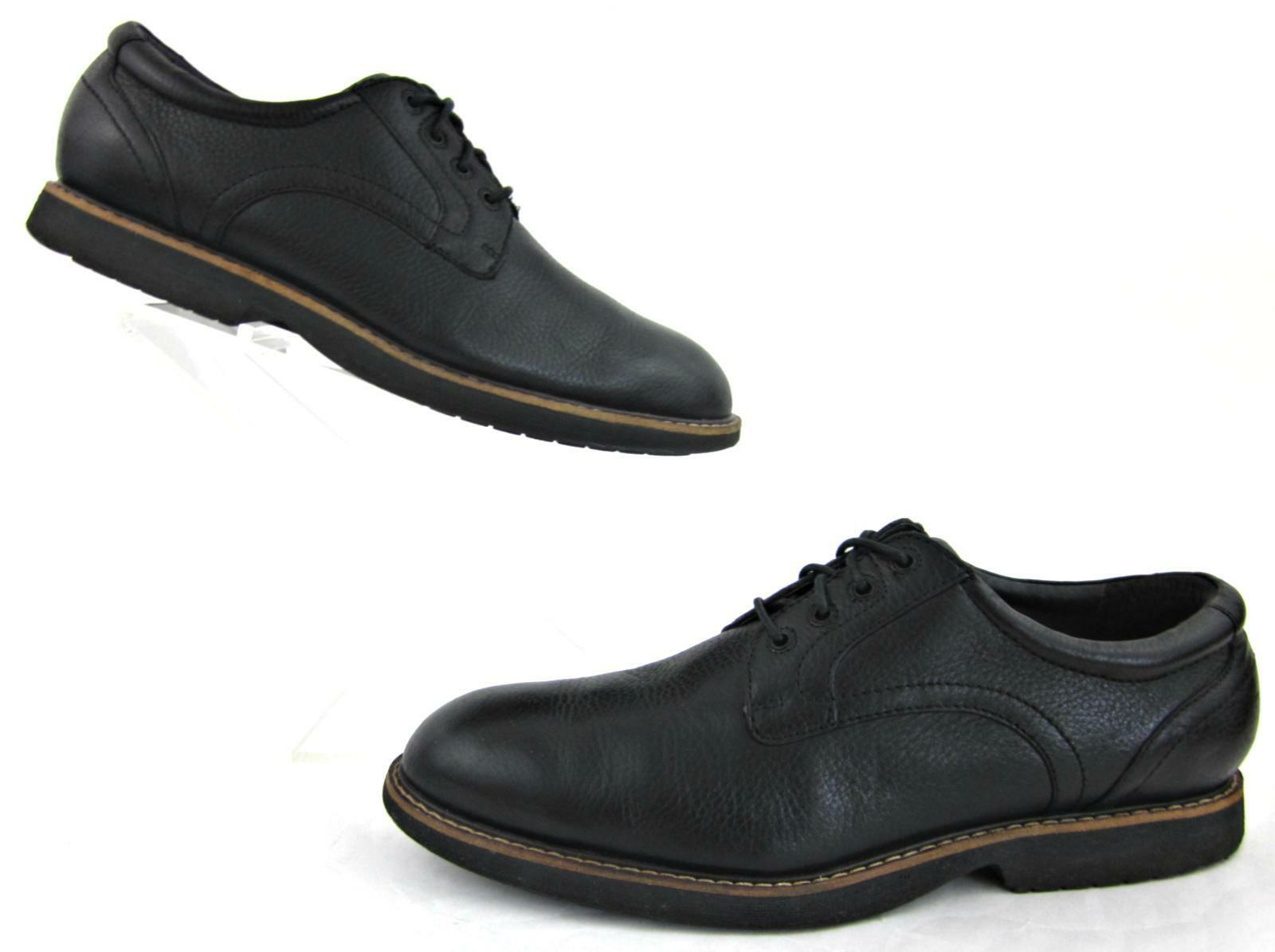 ABEO Newland Plain Toe Oxford shoes Black Leather Neutral Footbed    US 10.5