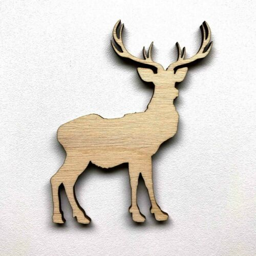 Wooden Birch Ply Stag Reindeer Scottish Craft Shape 3mm Thick Blank Personalised