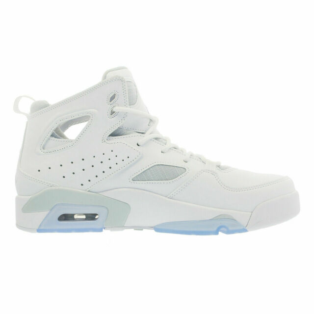 1546535e580 Nike Air Jordan Flight Club '91 White Pure Platinum Retro 555475-100 Mens  Shoes