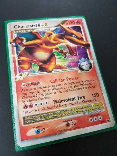 Charizard LV.X DP45 Holo/Ultra Rare, DP Black Star Promo, Pokemon Card, EXC/LP