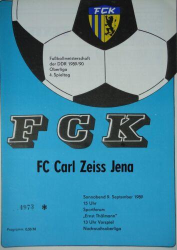 CZ Jena Programm 1989//90 FC Karl Marx Stadt