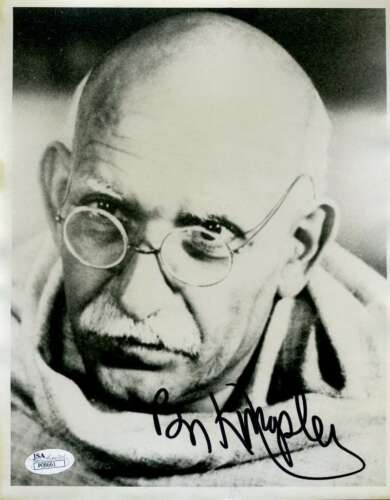BEN KINGSLEY JSA SIGNED 8X10 PHOTO GHANDI AUTOGRAPH