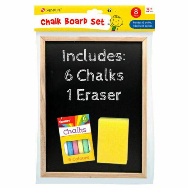 Duster and Chalk Grafix Chalk Board Children's BlackBoard /& Chalk Set