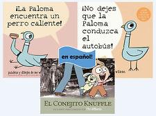 Español Mo Willems papel Volver libro Conjunto / Spanish Mo Willems Set 1-3 PB!