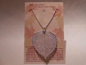 Real-Leaf-Metal-Filigree-Necklace-Silver-Aspen-Pendant
