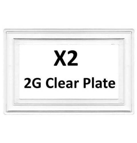 BG X2 Double Interrupteur de lumière 2 G Clair de doigt arrière Surround 8805