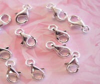 5 Sterling Silver Lobster Clasps Clasp W Ring 11 Mm