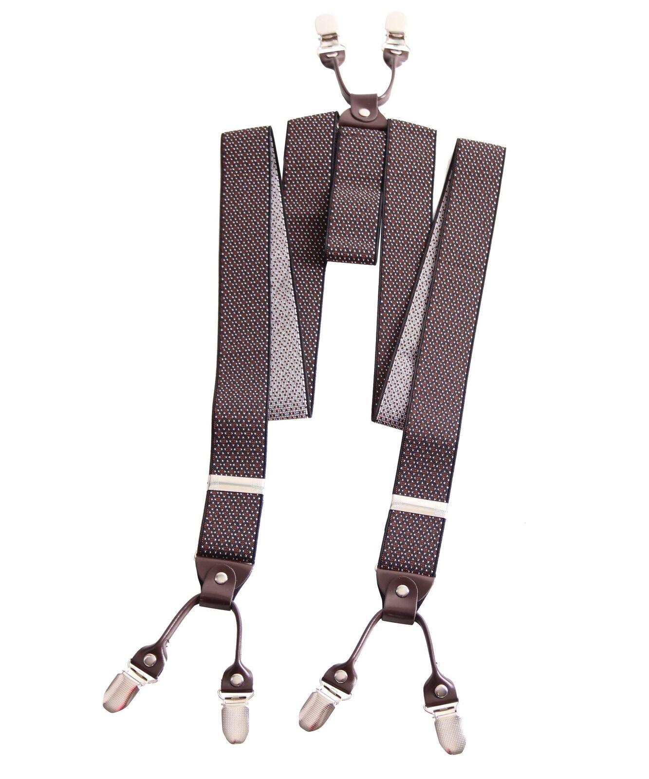 UNISEX retro Rockabilly vintage Style Suspenders Hosenträger gemustert breit m.