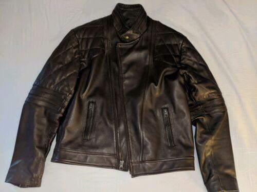 pecho Marrón J cuero de Rocha tamaño 44 grande italiano de 42 l chaqueta 7ZOqz7