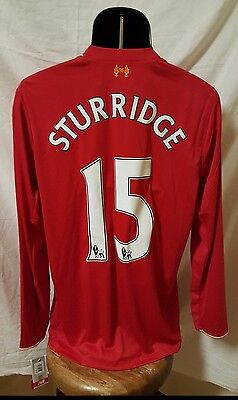 newest collection bac1d c45b4 NB FC Liverpool Long-Sleeve Home Jersey 15/16(Men's Sz Large)*Sturridge  #15* Red 888546684805 | eBay