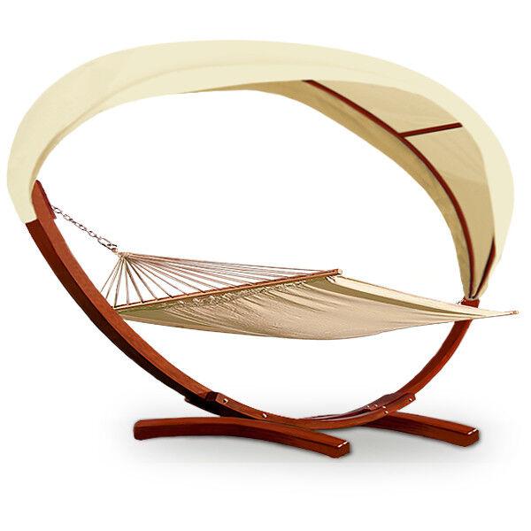 Wooden Double Hammock with Frame Sun Outdoor Garden Garden Garden Freestanding Patio Lounger 46ce4f