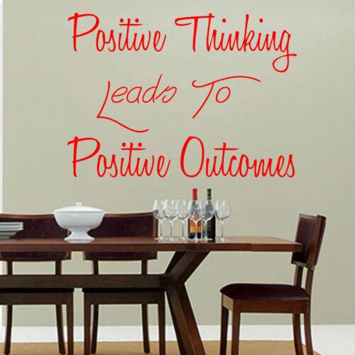 La pensée positive conduit à des résultats positifs Mur Art Autocollant Salon Cuisine