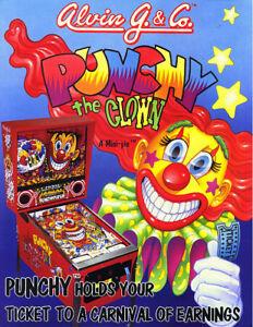 Alvin-G-amp-Co-PUNCHY-THE-CLOWN-Original-NOS-1993-Arcade-Pinball-Machine-Flyer