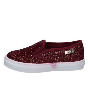 scarpe donna GUESS 39 EU slip on / mocassini bordeaux glitter BY94439