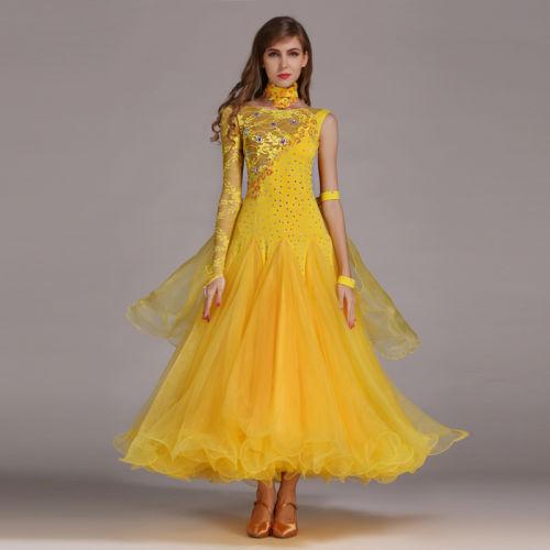 Ladies Latin Rhythm Ballroom Competition Dance Dress Waltz Tango