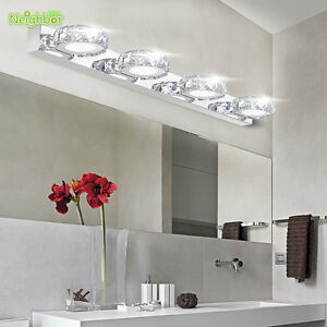 crystal wall lamp bathroom mirror front light lighting wall fixtures